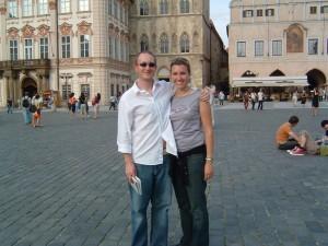 Jeff & Lisa in Prague 2005